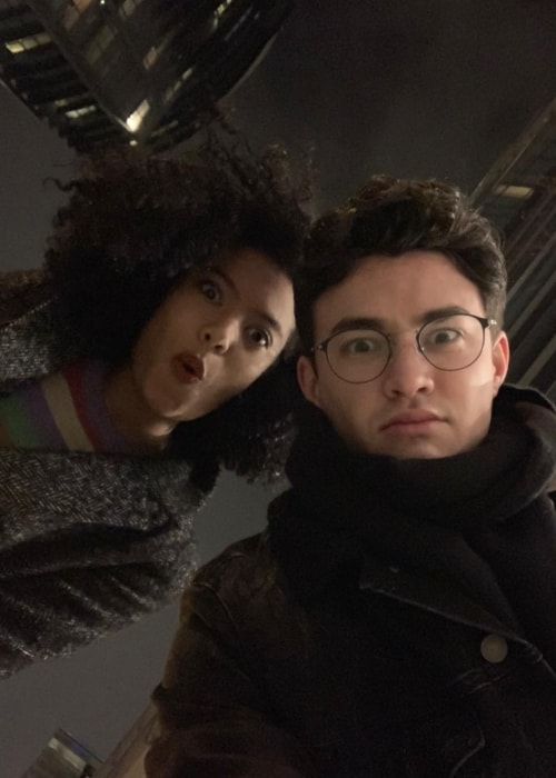 Gavin Leatherwood as seen in a selfie with actress Jaz Sinclair in December 2018