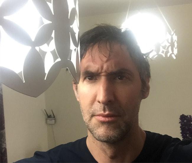 Ian Whyte in a selfie in April 2018