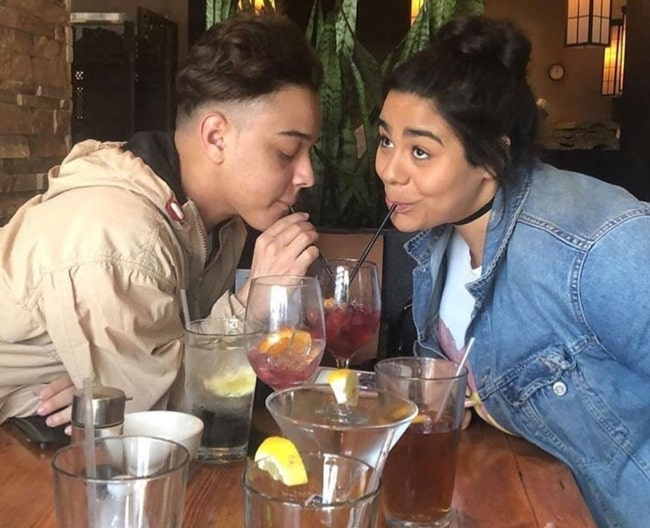 Jason Genao as seen while sharing a drink with Jessica Marie Garcia