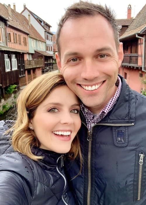 Jen Lilley and Jason Wayne as seen in May 2019