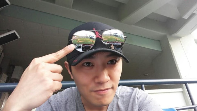 Jin Goo in a selfie in April 2018