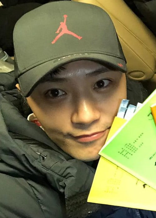 Jin Goo in an Instagram selfie as seen in February 2019