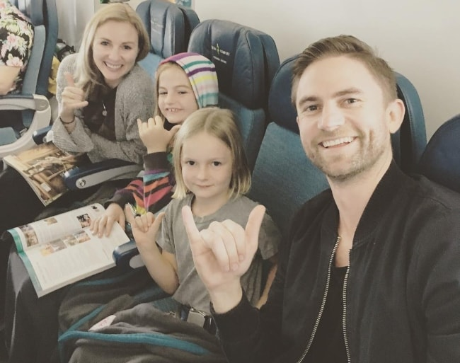 Joel Little as seen while taking a selfie with his beautiful family while on their way to Hawaii in December 2016