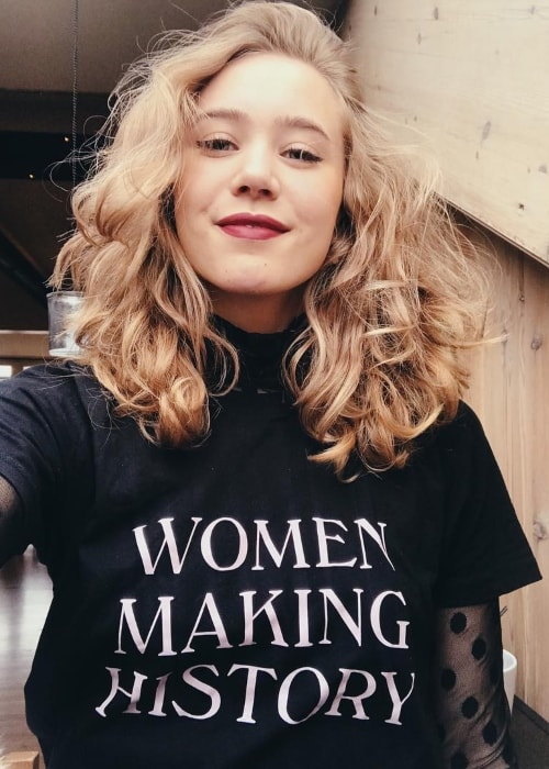 Josefine Frida Pettersen as seen while taking a selfie on International Women's Day on March 8, 2019