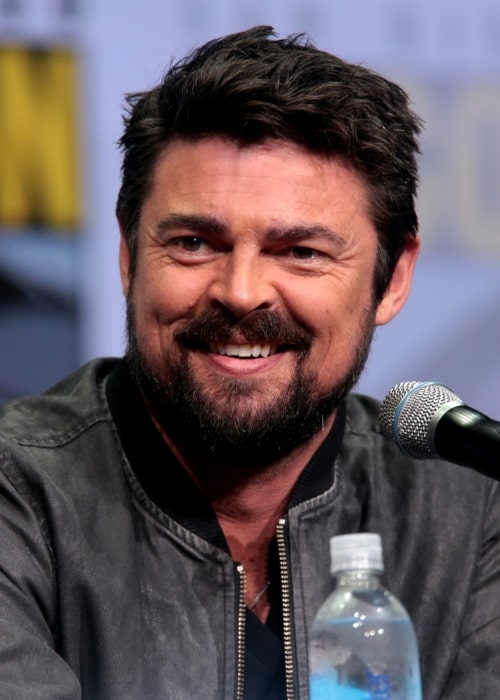 Karl Urban as seen in a picture taken at the San Diego Comic-Con International in San Diego, California in July 2017