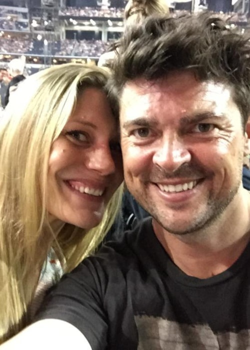 Karl Urban as seen in a selfie with Katee Sackhoff in June 2015