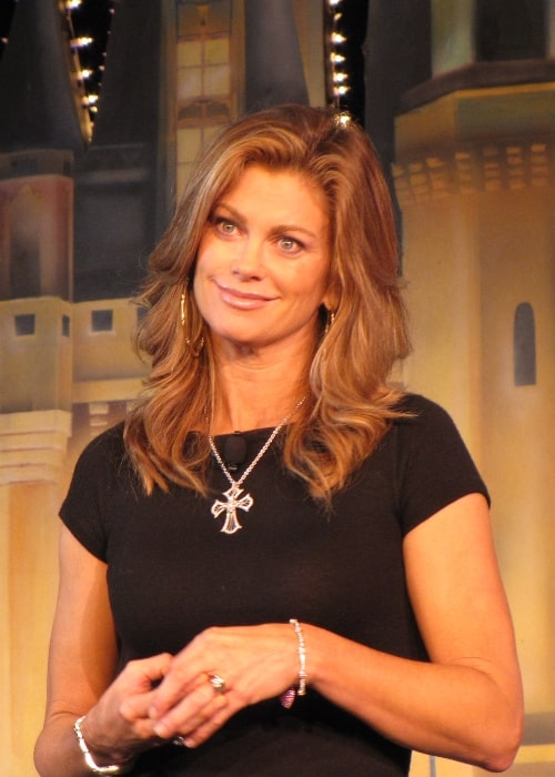 Kathy Ireland as seen while listening to a question during an event in February 2010