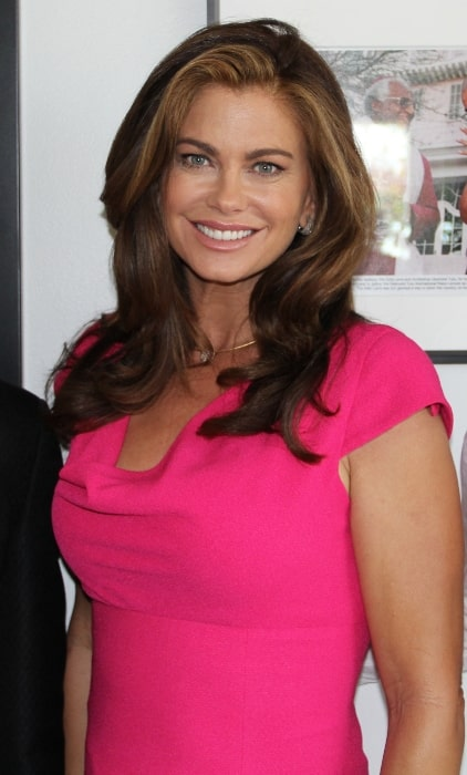 Kathy Ireland as seen while posing for the camera at the Googleplex in Mountain View, California, United States in July 2012