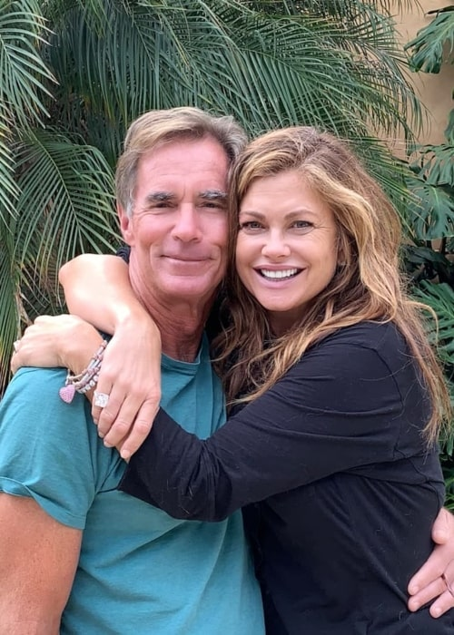 Kathy Ireland as seen while posing lovingly for a picture with her husband, Greg Olsen, in October 2018