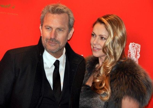 Kevin Costner and Christine Baumgartner as seen in February 2013