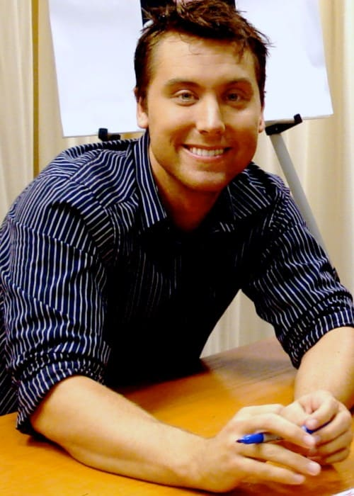 Lance Bass at a book signing in New York City in 2007