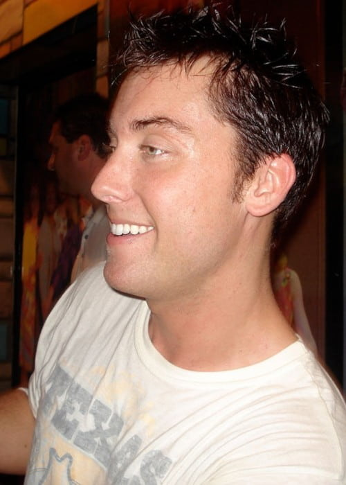 Lance Bass outside the Neil Simon Theater in New York City in August 2007