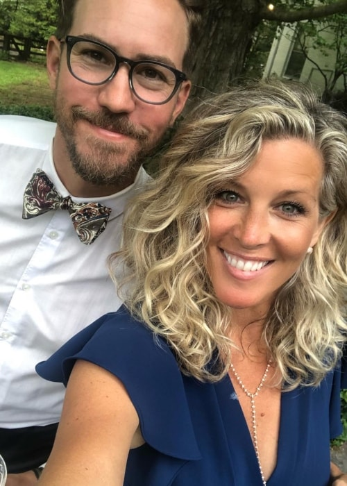 Laura Wright as seen in a selfie with her beau Wes Ramsey in April 2019