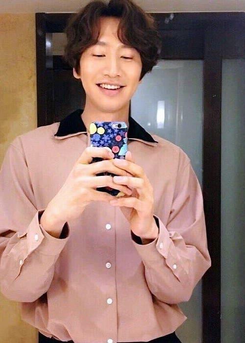 Lee Kwang-soo in a selfie as seen in April 2017