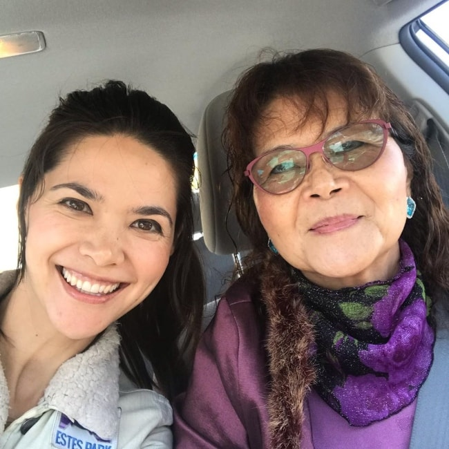 Lilan Bowden as seen while taking a car selfie with her mother in May 2019