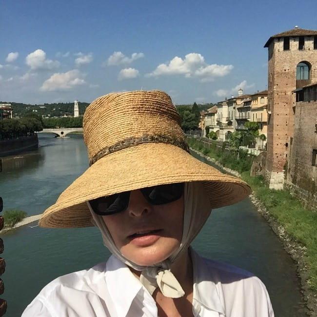 Linda Evangelista in an Instagram selfie as seen in July 2015
