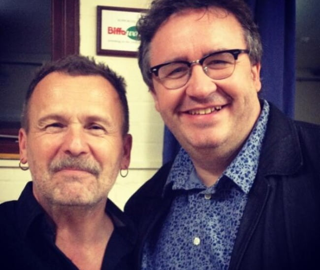 Mark Benton (Right) and Martin Simpson as seen in March 2014