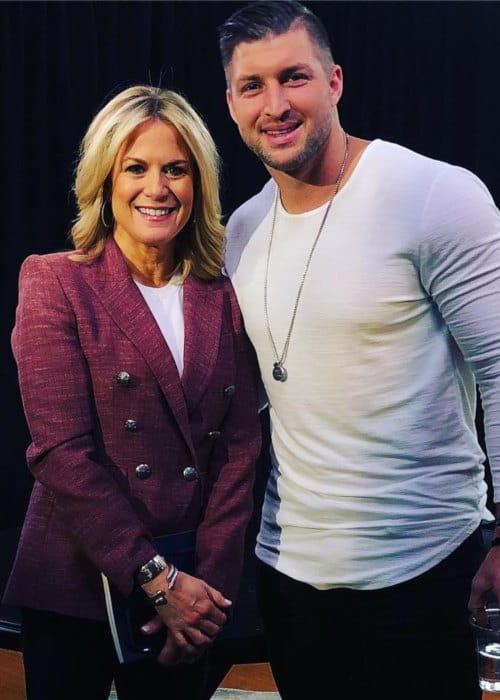 Martha MacCallum and Tim Tebow as seen in February 2019