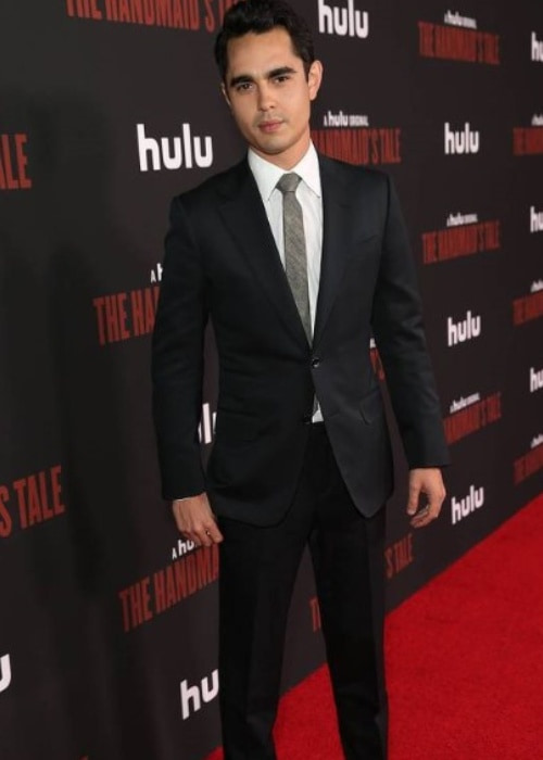 Max Minghella on the red carpet for The Handmaid's Tale in 2017