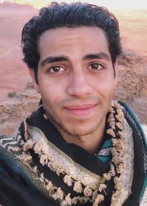 Mena Massoud in an Instagram selfie as seen in November 2018