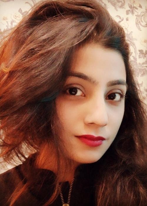 Neha Marda as seen in a close-up selfie taken in May 2019