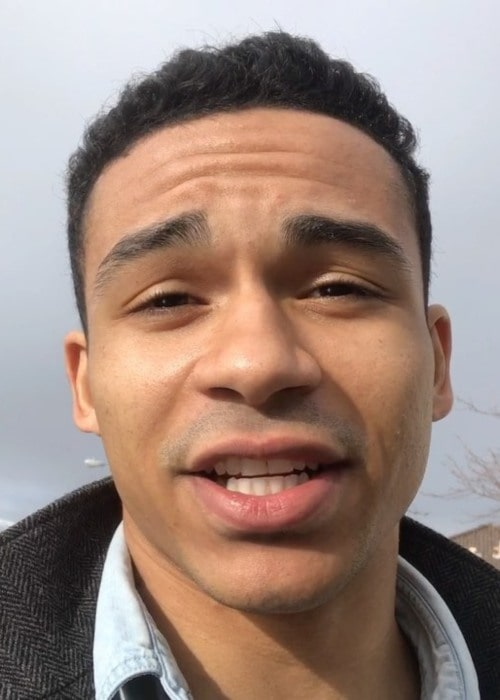 Noah Gray-Cabey in an Instagram selfie as seen in March 2019