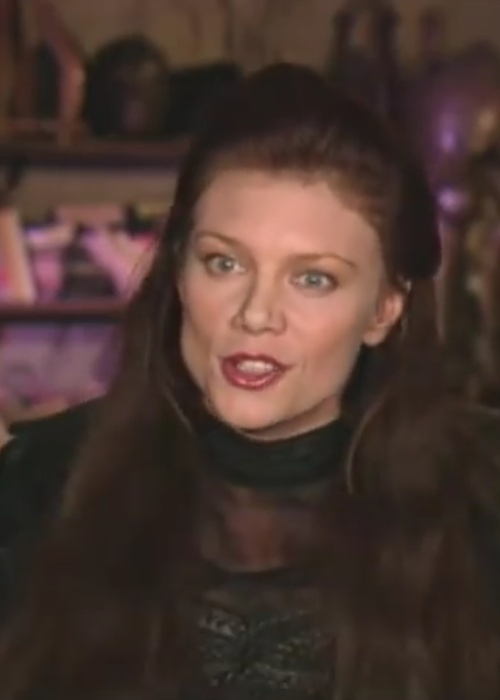 Peta Wilson during an interview for her film The League of Extraordinary Gentlemen in 2003
