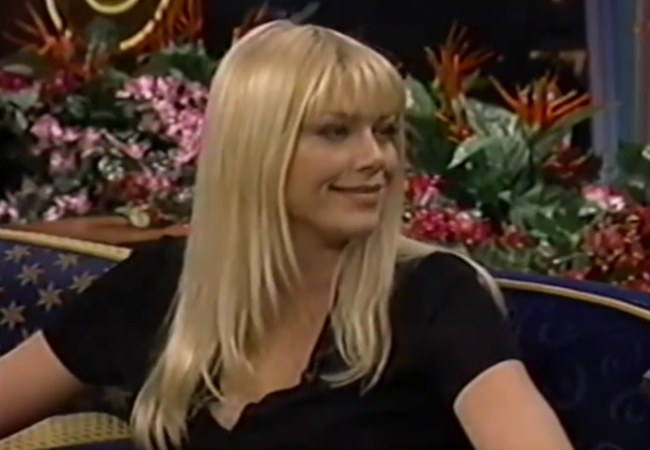 Peta Wilson during an interview on The Tonight Show in 1997