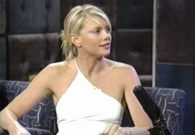 Peta Wilson on the TV show Late Night with Conan O'Brien in 2000