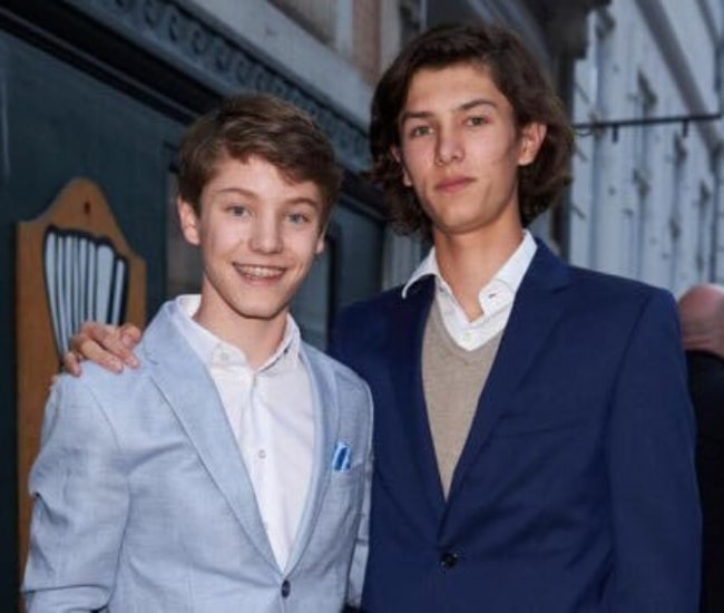 Prince Felix of Denmark (Left) as seen while posing for a photo with his older brother Prince Nikolai of Denmark