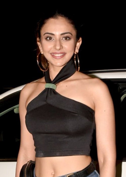 Rakul Preet Singh as seen in a picture taken at the wrap-up party of the film Marjaavaan in March 2019