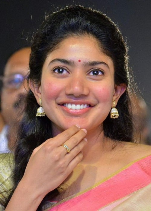 Sai Pallavi as seen in a picture taken at the MCA pre release event in December 2017