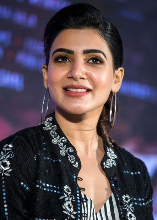 Samantha Akkineni as seen in a picture taken at the Irumbu Thirai Trailer Launch in December 2017
