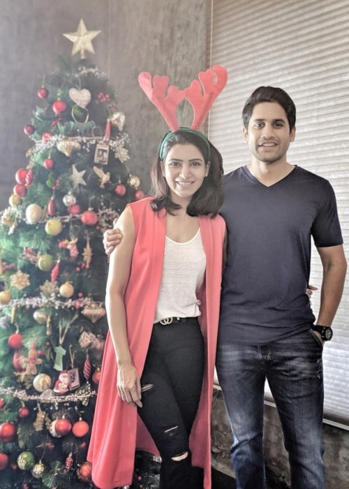 Samantha Akkineni as seen in a picture with her beau Naga Chaitanya in December 2018
