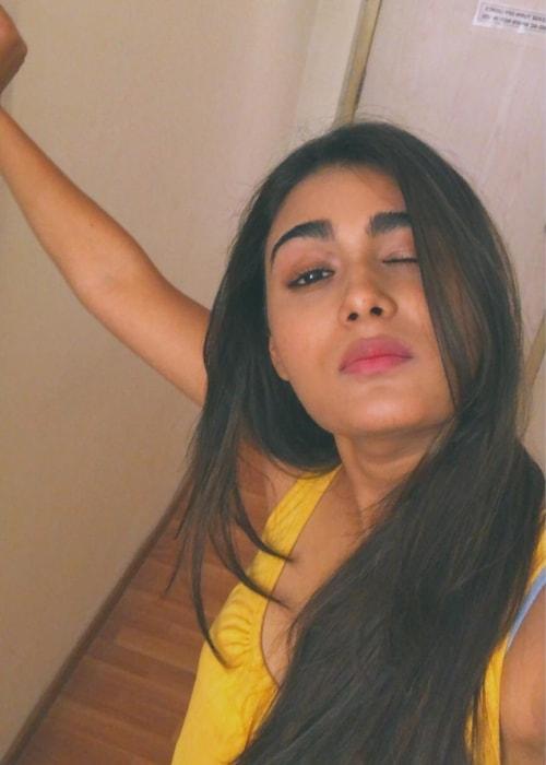 Shalini Pandey as seen in a selfie taken in March 2019