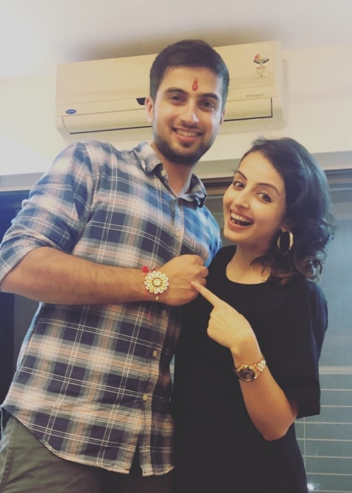 Shrenu Parikh as seen in a picture with her brother Shubham taken on Rakshabandhan in August 2018
