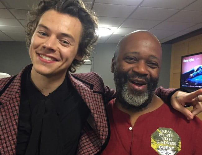 Theaster Gates (Right) and Harry Styles as seen in July 2018
