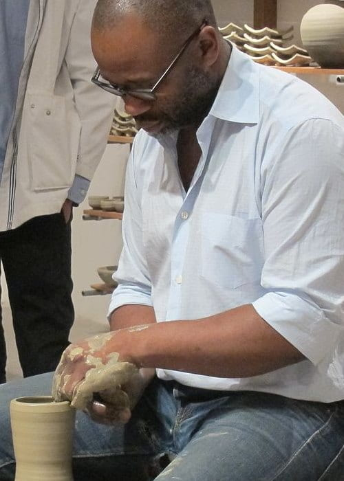 Theaster Gates at Soul Manufacturing Corporation in December 2012
