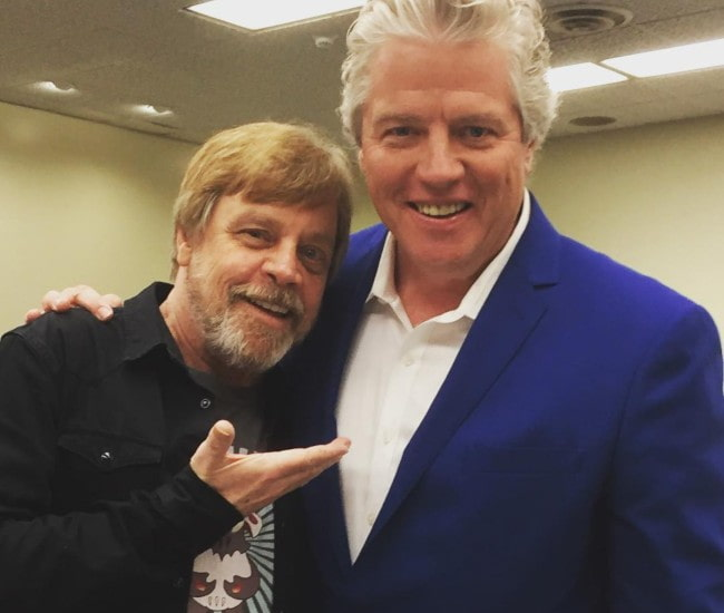 Thomas F. Wilson (Right) and Mark Hamill as seen in April 2017