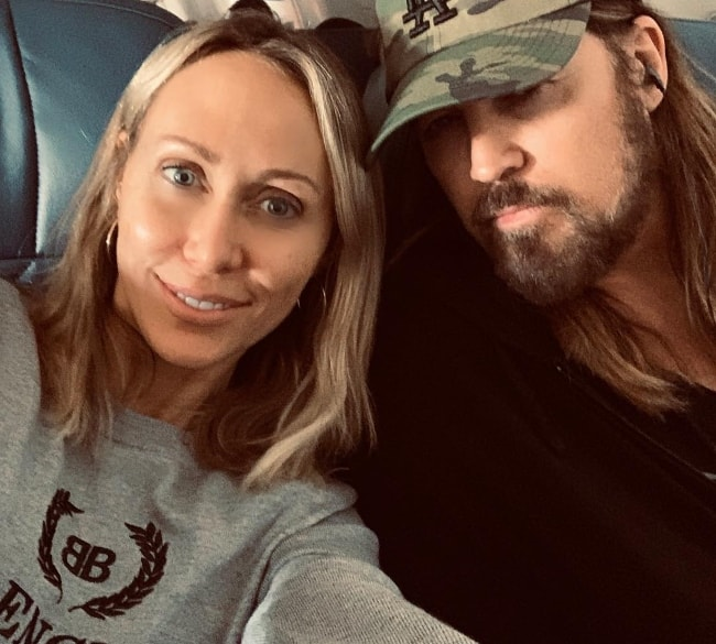 Tish Cyrus as seen while taking a selfie with husband, Billy Ray Cyrus, in April 2019