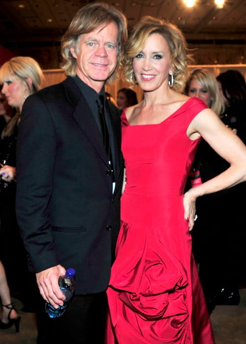 William H. Macy and Felicity Huffman at The Heart Truth's Red Dress Collection in February 2010