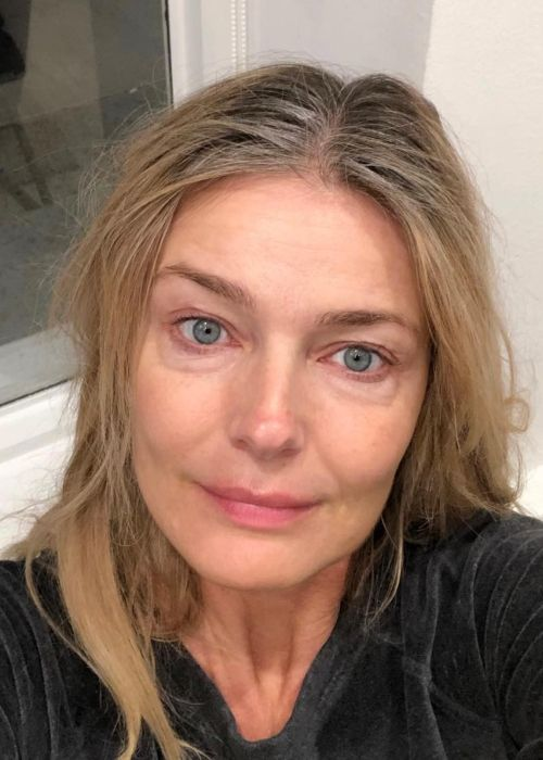 54-year-old Paulina Porizkova appearing without make-up in a birthday selfie on April 9, 2019