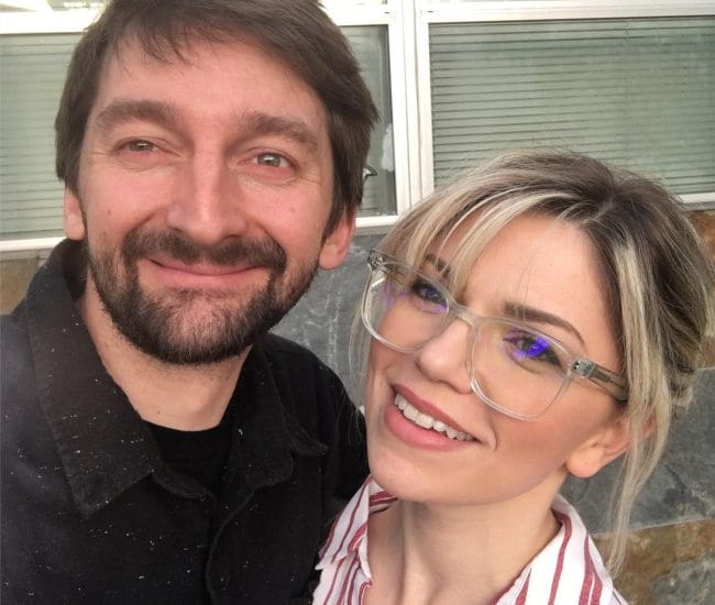 Aaron Kyro and Danielle Kyro in a selfie in April 2019