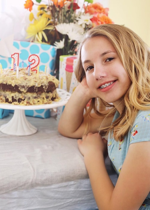 Abby Franke as seen in a picture taken on the day of her 12th birthday in April 2019