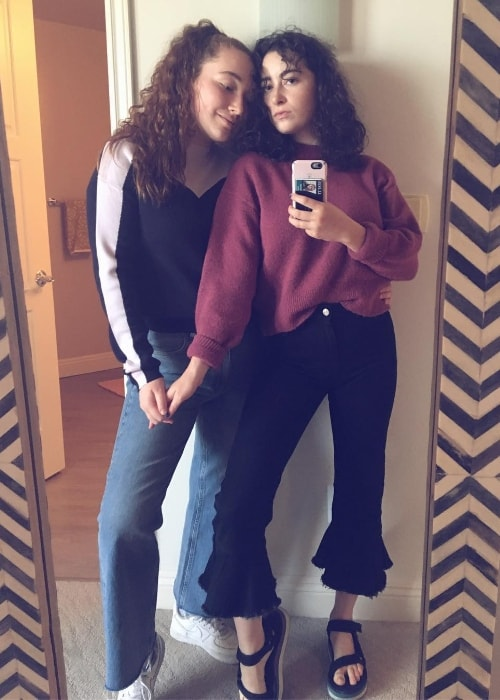 Abby Quinn as seen while taking a mirror selfie with Valerie Jackman in February 2018