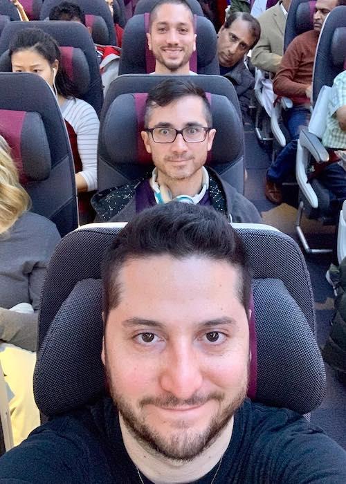 Alejandro Manzano taking a selfie at Doha, Qatar in January 2019