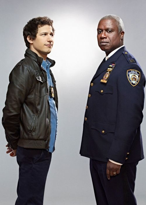 Andre Braugher with his Brooklyn Nine-Nine co-star Andy Samberg
