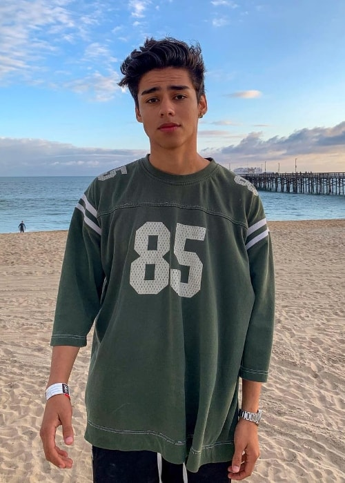 Andrew Davila as seen while posing for the camera during his time on the beach in May 2019