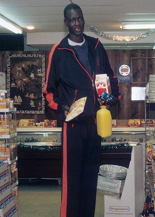 Basketball player Manute Bol