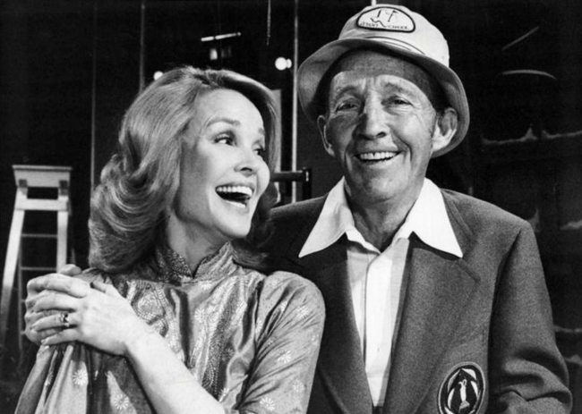 Bing Crosby and Kathryn Grant as seen in November 1976